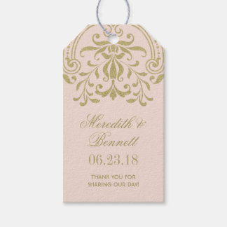 Wedding Favor Tags | Gold Vintage Glamour