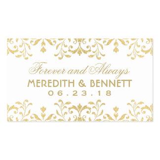 Wedding Favor Tags | Gold Vintage Glamour Pack Of Standard Business Cards