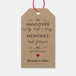 Wedding Favor Tags / Hangover Kit Tags