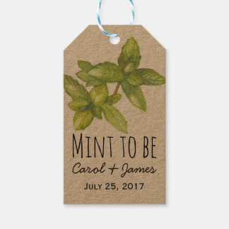 Wedding favor tags mint to be