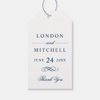 Wedding Favor Tags | Navy Classic Elegance