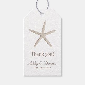 Wedding Favor Tags | Neutral Starfish
