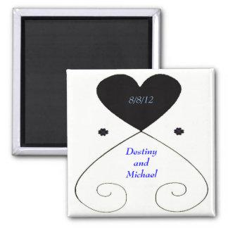 Wedding Favor Template Magnet