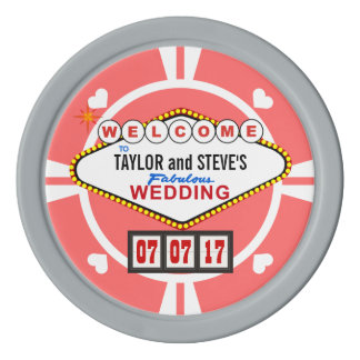 Wedding Favor Vegas Casino Poker Chips
