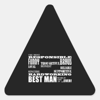 Wedding Favors Best & Greatest Best Men Qualities Stickers