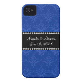 Wedding favors Blue damask Blackberry Bold Case