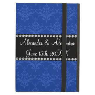 Wedding favors Blue damask iPad Air Case