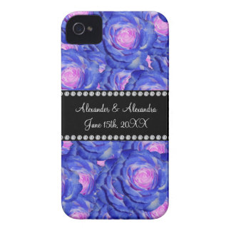 Wedding favors Blue roses iPhone 4 Case