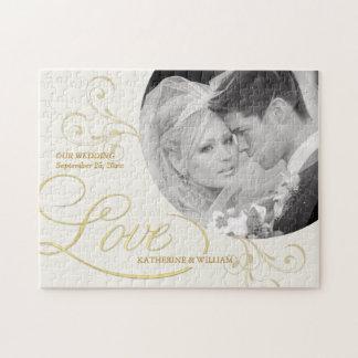 Wedding Favors - Custom Photo Jigsaw Puzzle