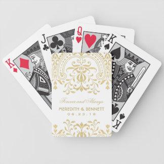 Wedding Favors | Gold Vintage Glamour Poker Deck