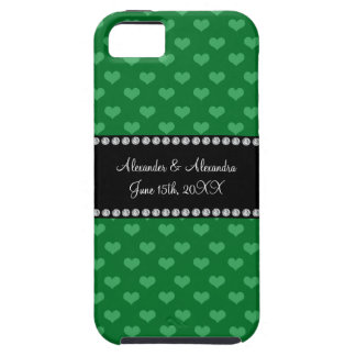 Wedding favors green hearts tough iPhone 5 case