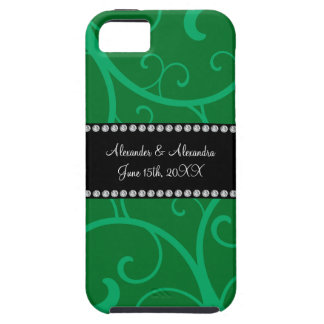 Wedding favors green swirls iPhone 5 cover