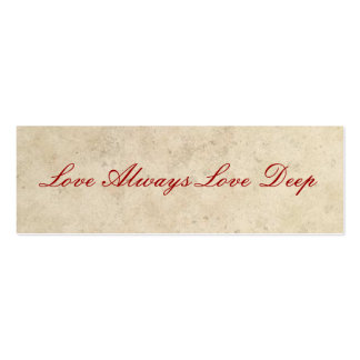 Wedding Favors - Love Always Love Deep Business Cards