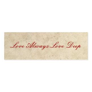 Wedding Favors - Love Always Love Deep Pack Of Skinny Business Cards