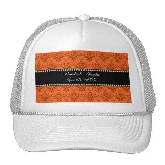 Wedding favors Orange damask Hat