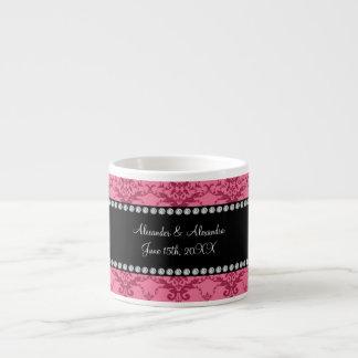 Wedding favors Pink damask Espresso Cup