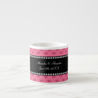 Wedding favors pink hearts espresso mug