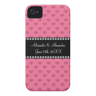 Wedding favors pink hearts iPhone 4 Case-Mate cases