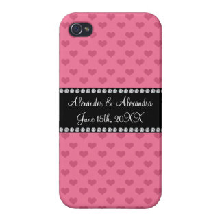 Wedding favors pink hearts case for iPhone 4