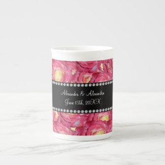 Wedding favors Pink roses Bone China Mugs