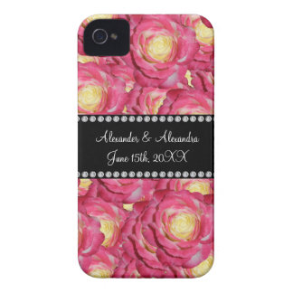 Wedding favors Pink roses Case-Mate iPhone 4 Case