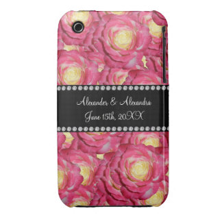 Wedding favors Pink roses Case-Mate iPhone 3 Cases