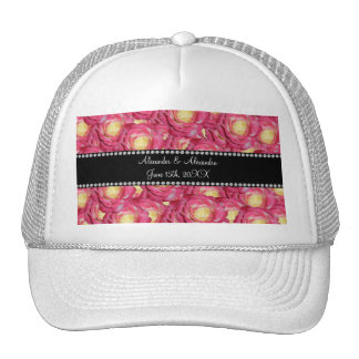 Wedding favors Pink roses Hats