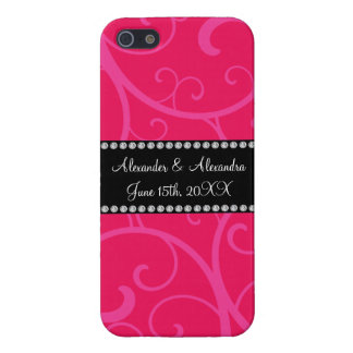 Wedding favors pink swirls covers for iPhone 5
