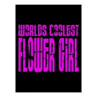 Wedding Favors Pink Worlds Coolest Flower Girl Poster