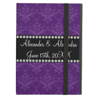 Wedding favors Purple damask Case For iPad Air