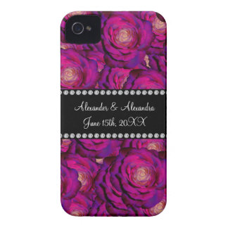 Wedding favors Purple roses iPhone 4 Cover