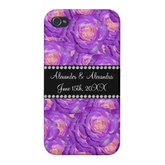 Wedding favors Purple roses iPhone 4 Case