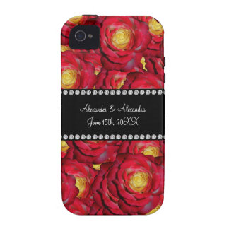 Wedding favors Red roses iPhone 4 Case