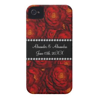 Wedding favors Red roses Case-Mate iPhone 4 Cases