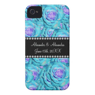 Wedding favors Turquoise roses iPhone 4 Case-Mate Cases
