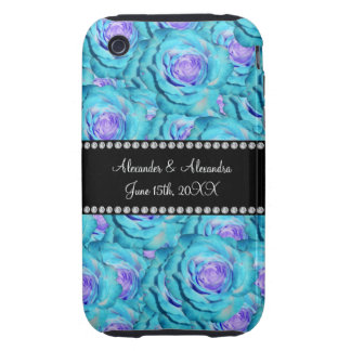 Wedding favors Turquoise roses iPhone 3 Tough Covers