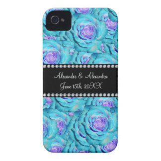 Wedding favors Turquoise roses iPhone 4 Cover