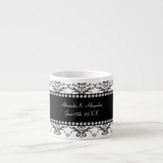 Wedding favors White damask Espresso Mug