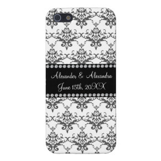Wedding favors White damask Cases For iPhone 5