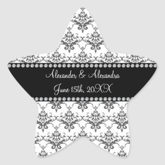 Wedding favors White damask Sticker