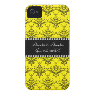 Wedding favors Yellow damask iPhone 4 Covers
