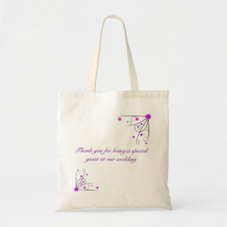 Wedding Favour Bag - Purple Pink Flower Swirl