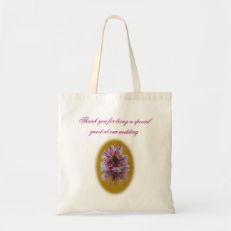 Wedding Favour Bag - Striped Daisy Gerbra pink yel