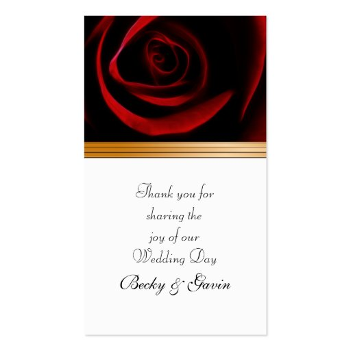 Wedding Favour Gift Tag Roses Are Red Pack Of Standard Business Cards ...