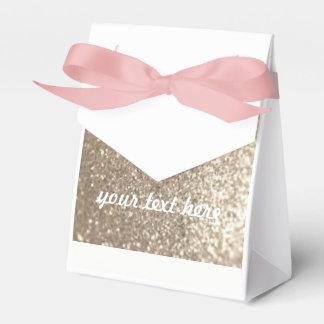Wedding Favour Gold & Pink Customisable Gift Bag Wedding Favour Box