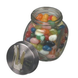 Wedding Favour Jelly Bean Jar Gifts Glass Candy Jar