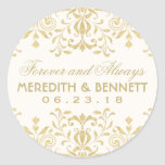 Wedding Favour Stickers   Gold Vintage Glamour