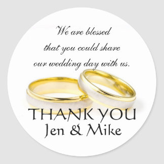 Wedding Favour Stickers Thank You Message