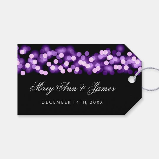Wedding Favour Tag Purple Hollywood Glam