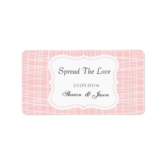 Wedding Favours Jam Jar Labels Spread The Love